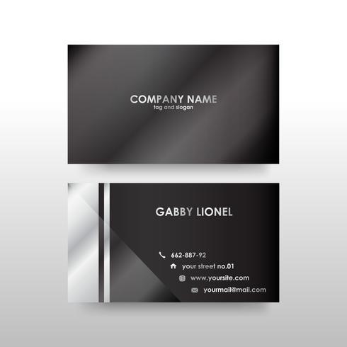 Plantilla de tarjeta de visita de doble cara creativa y elegante