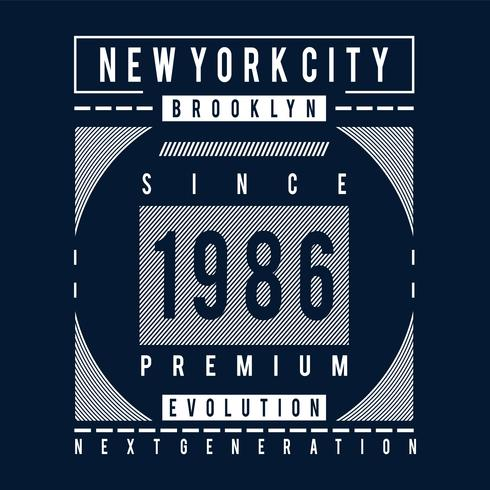 t do design da tipografia da evolução de brooklyn