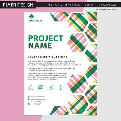 Diseño vectorial profesional de folleto o folleto, ilustración de catálogo de portada de revista abstracta
