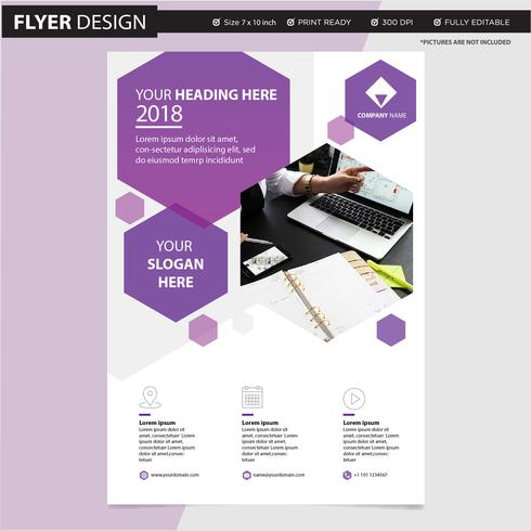 Berufsflieger- oder Broschürenkonzeptdesign, abstrakte Vektorillustration