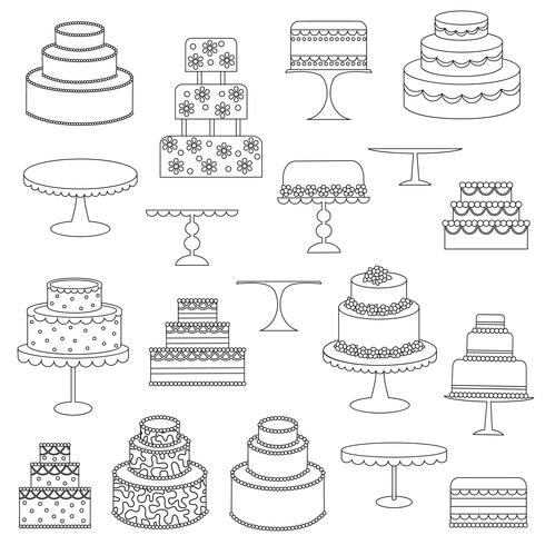 Cake Digital Stamps Clipart