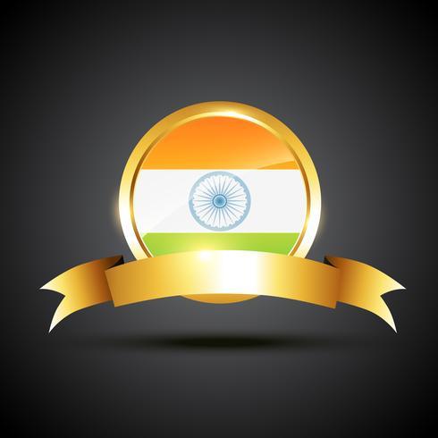 etichetta della bandiera indiana