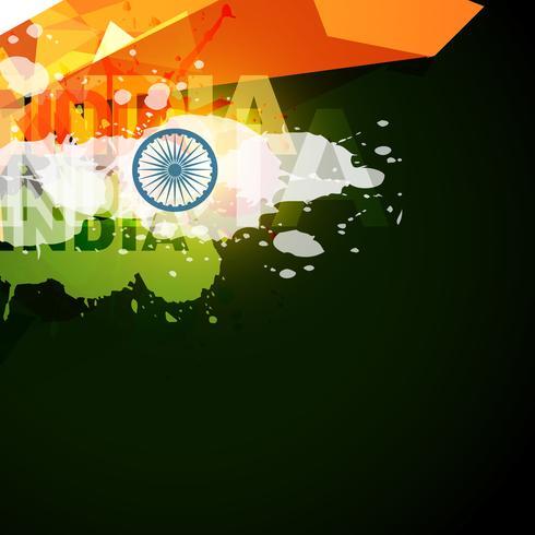 bandiera indiana di stile astratto