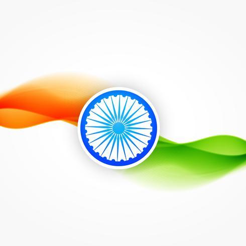 vector vlag van india met golf stroomt