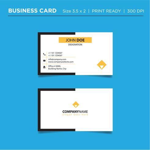 Moderna tarjeta de visita creativa colorida y tarjeta de presentación, diseño de plantilla de plantilla limpia simple horizontal vector