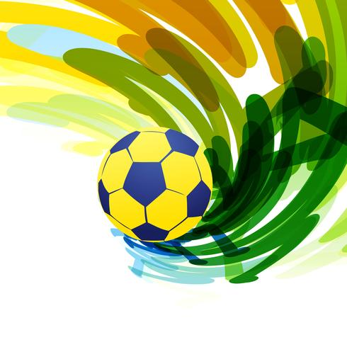 abstract voetbalspel