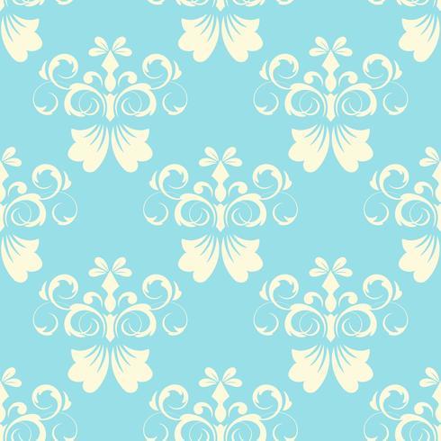 Patrón vintage de azulejos con flores