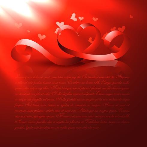 glänsande rött hjärta