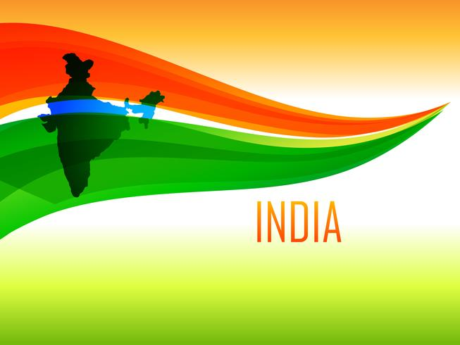 indisches Flaggendesign im Wellenstil