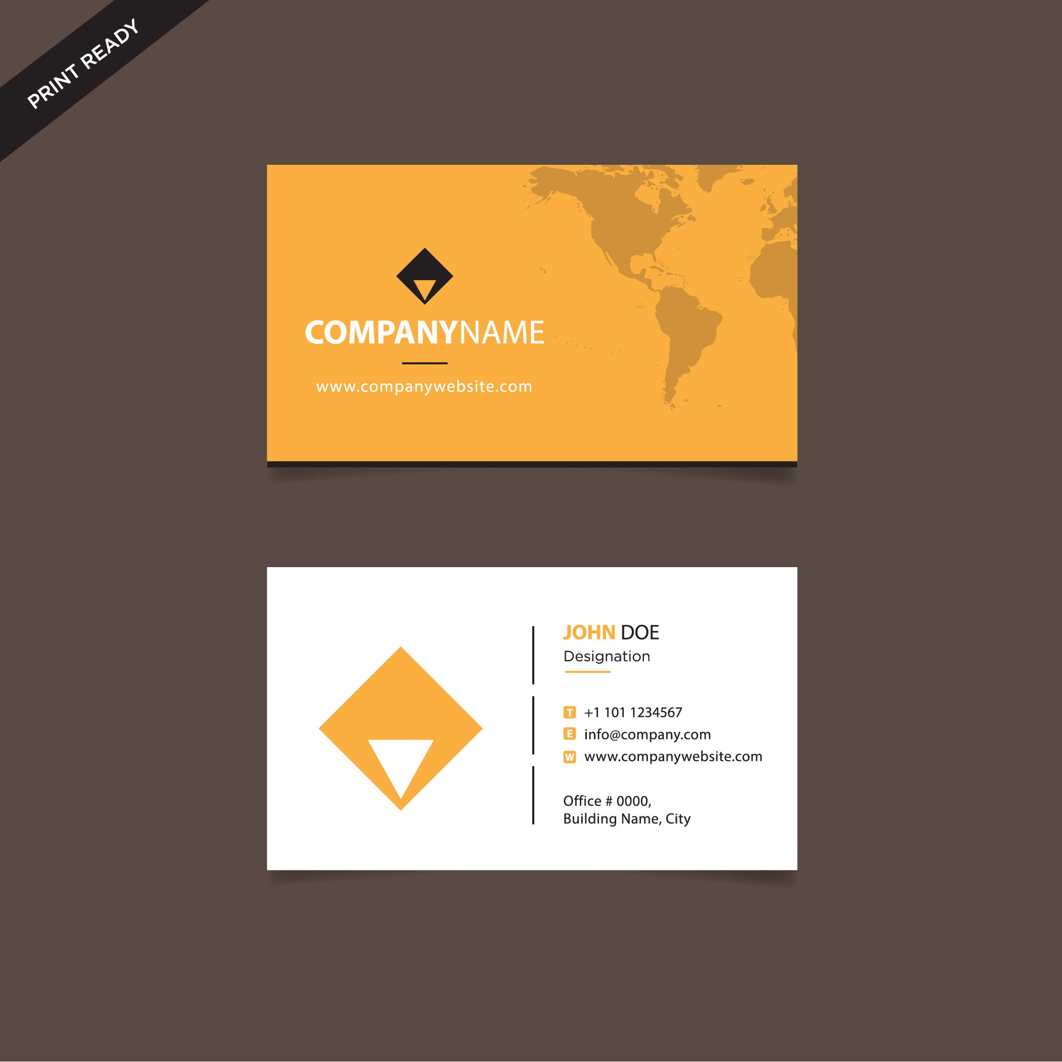 modern style creative business card and name card