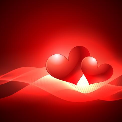 valentijn dag hart achtergrond met golf