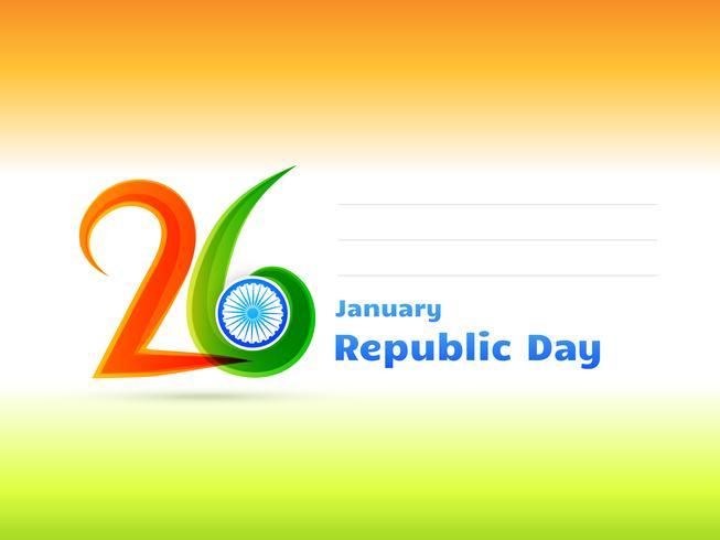 Ilustración del diseño del día de la república