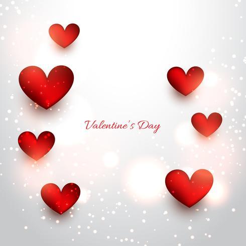 valentijn rode harten op aantrekkelijke achtergrond