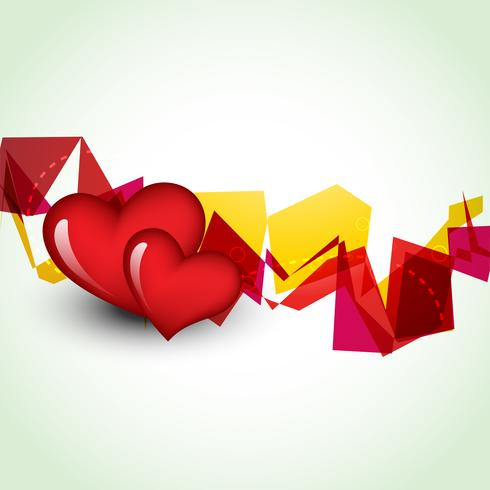 projeto de forma de coração bonito de vetor