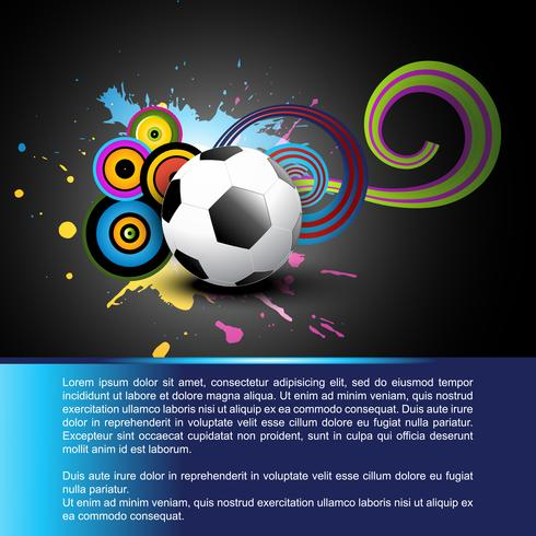 abstract voetbal