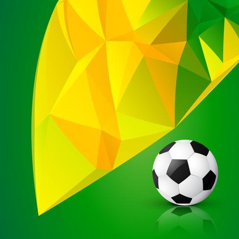 abstracte grunge-stijl voetbal vector