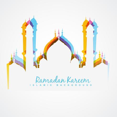 diseño colorido de la mezquita