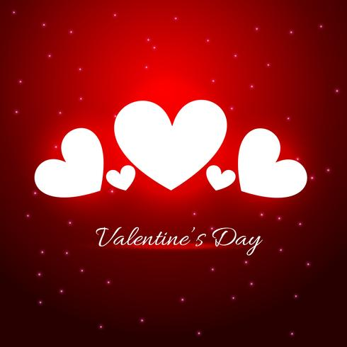 illustration de beau coeur sur fond rouge