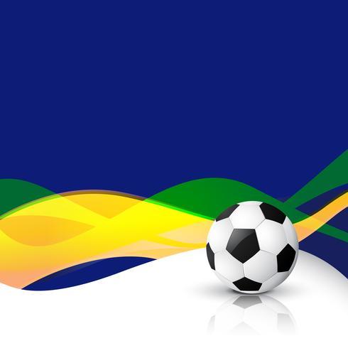 Wellenart-Vektorfußball