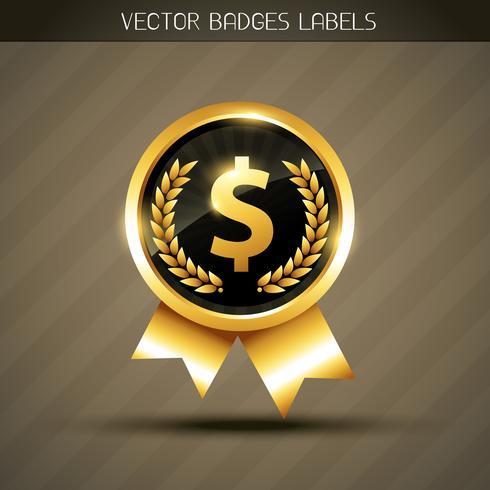 vector dollar label