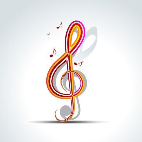 vector de fondo musical