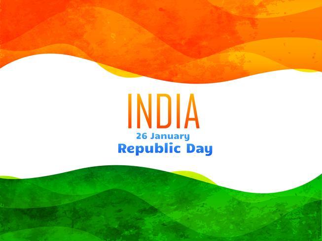 diseño del día de la República India hecha con textura