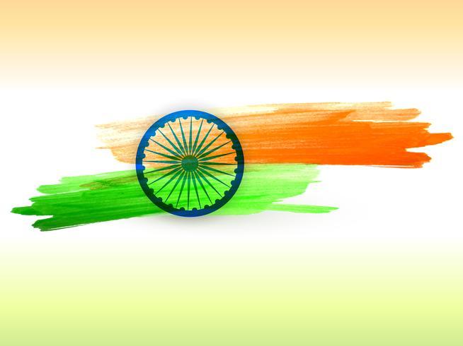 bandera india hecha con trazos de color