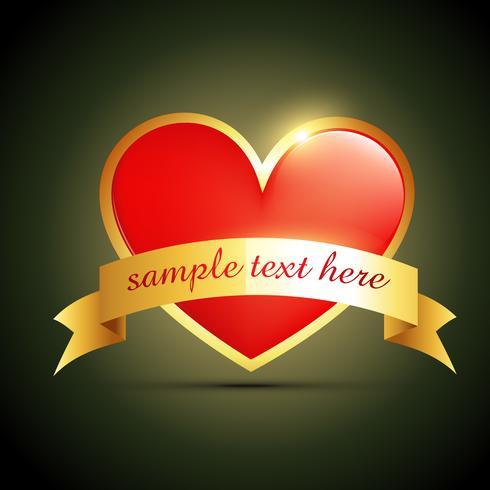 label heart design
