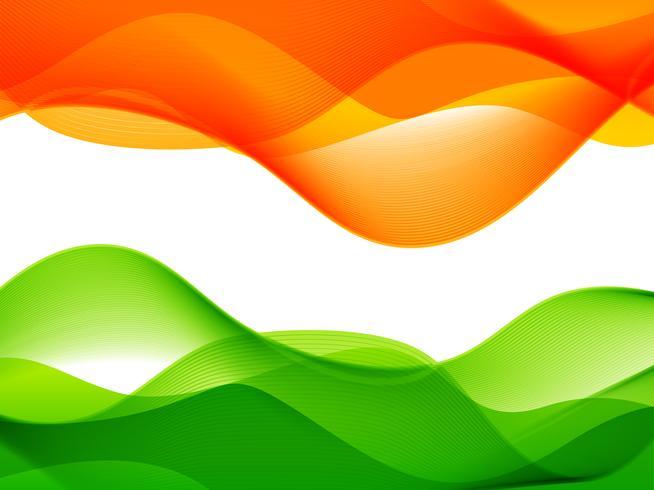 diseño de la bandera india de estilo ola