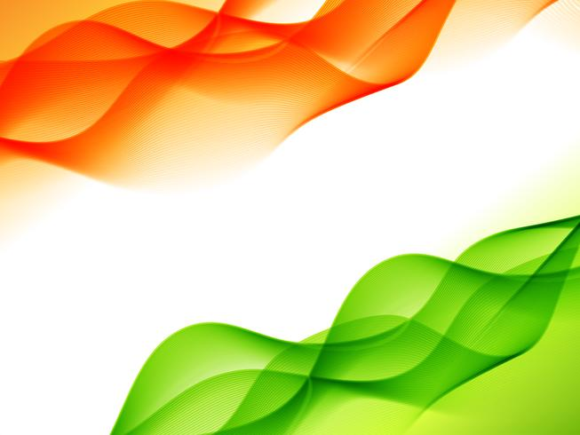design de bandeira indiana feita no estilo de onda
