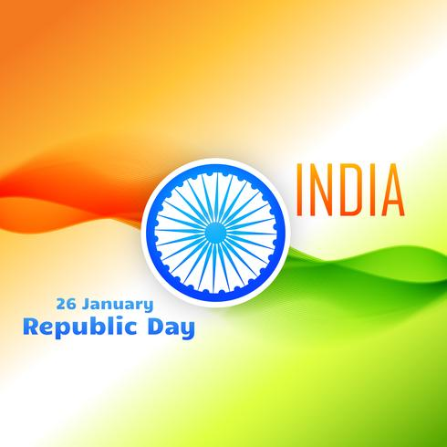 ontwerp van de tri kleuren het Indische vlag voor de dag van de republiek vector