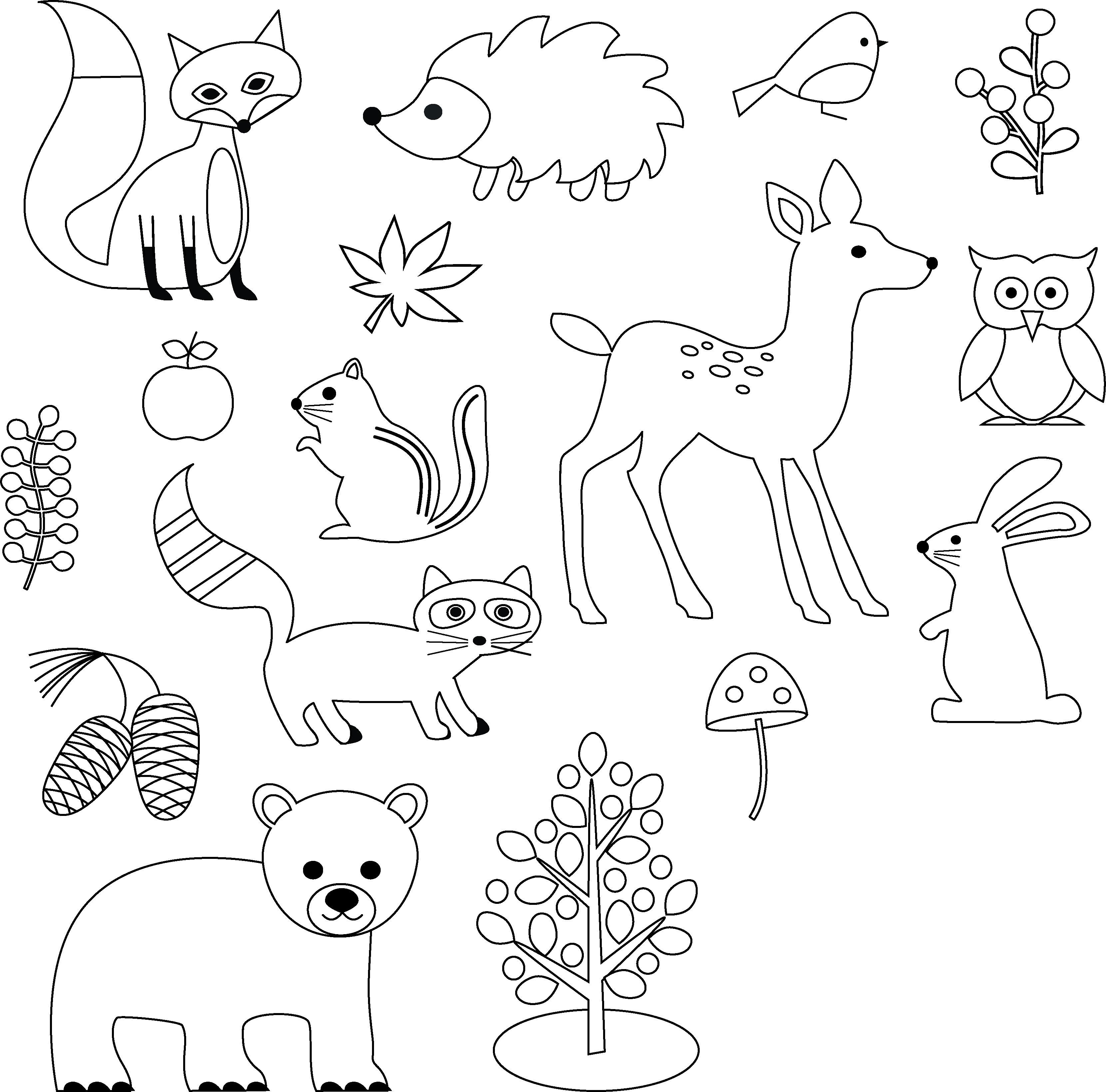 Woodland Animals Digital Stamps Clipart 458433 Vector Art