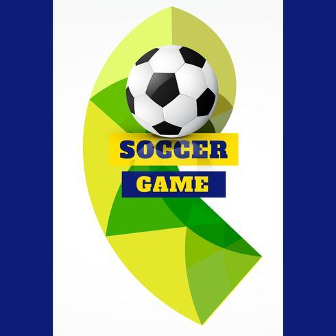 match de foot abstrait