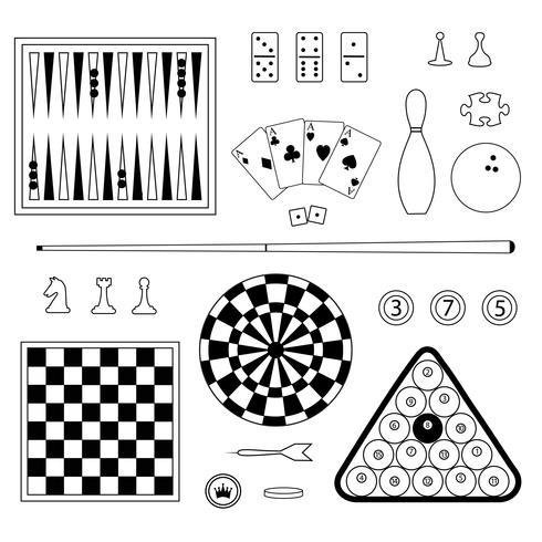 Games Digital Stamps Clipart vector