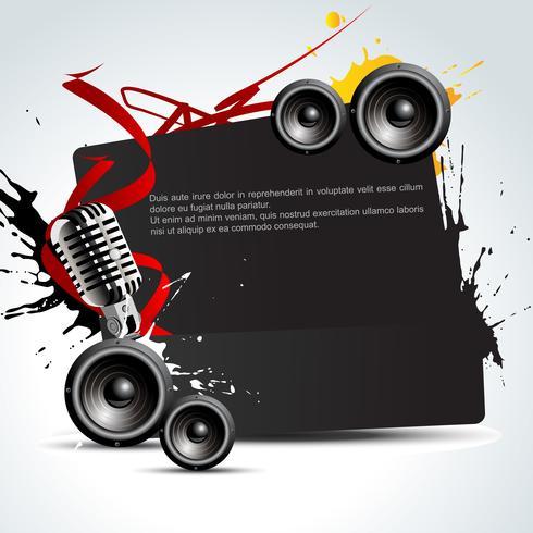 vettore di musica di sottofondo
