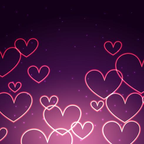 fundo atraente de corações
