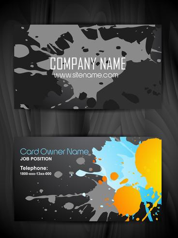 grunge stijl visitekaartje ontwerp