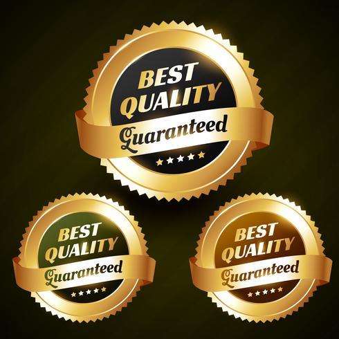 diseño de etiqueta dorada de vector mejor calidad mejor