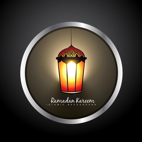 beautiful ramadan kareem lamp label