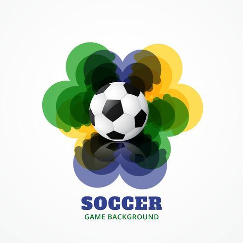 abstraktes Fußballspiel