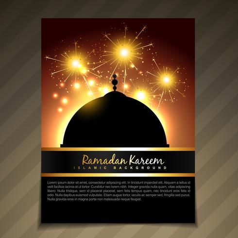 modèle de festival de ramadan