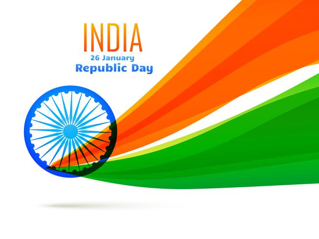 Indisk flaggdesign gjord i vågstil