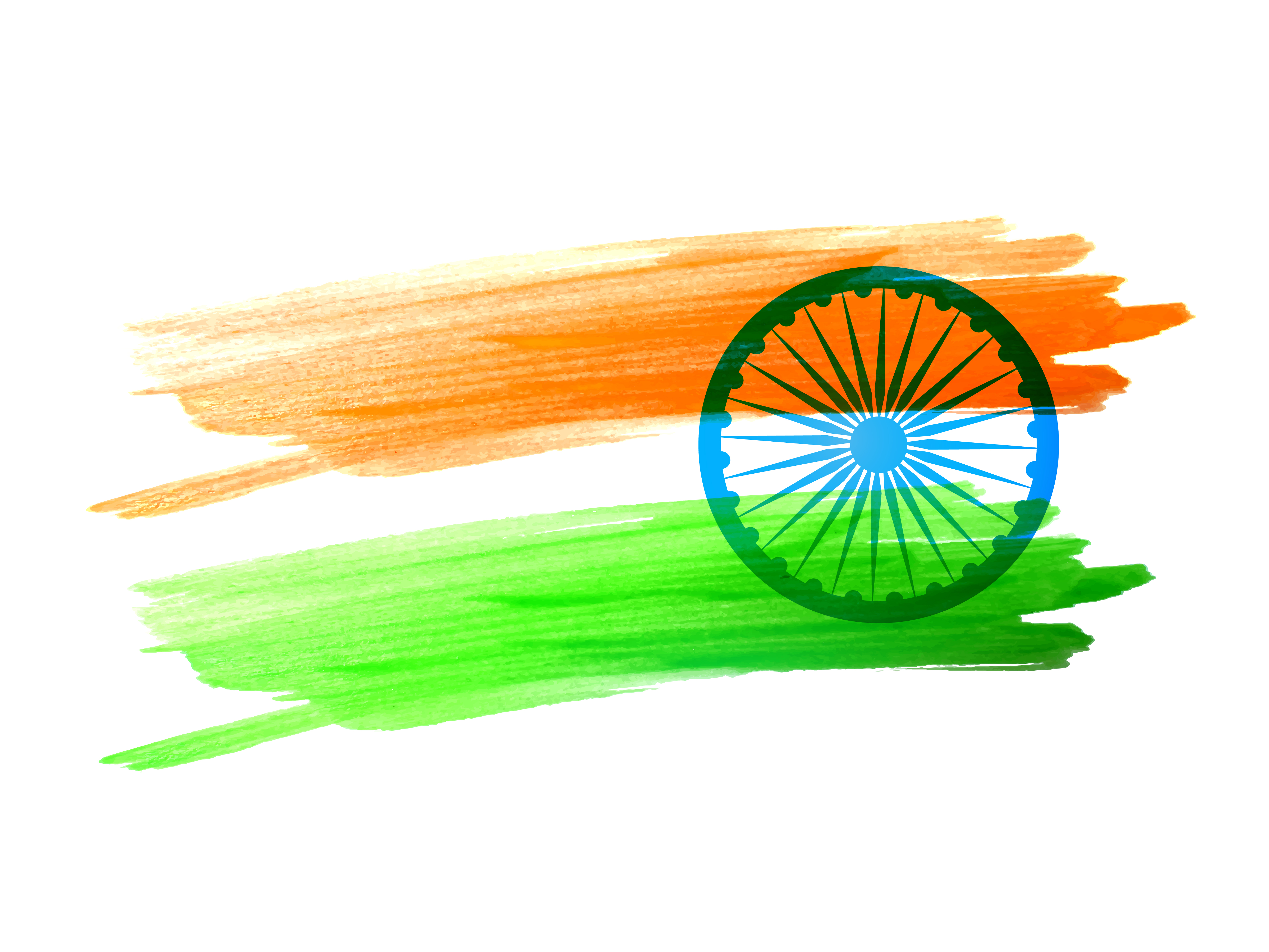 indian flag made with color strokes - Download Free ...