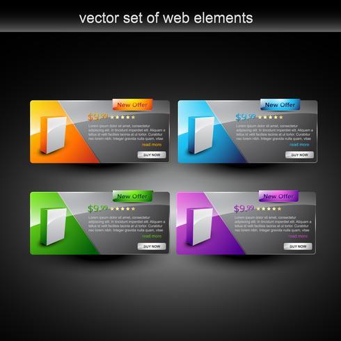 weergave van webproducten vector