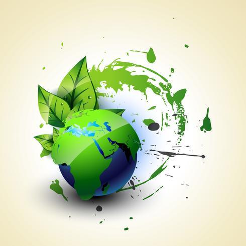 terra verde de vetor