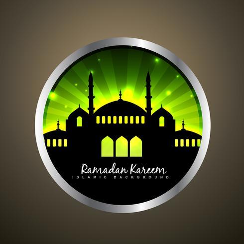 étiquette islamique de vecteur