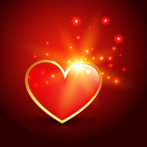 ilustração de coração brilhante