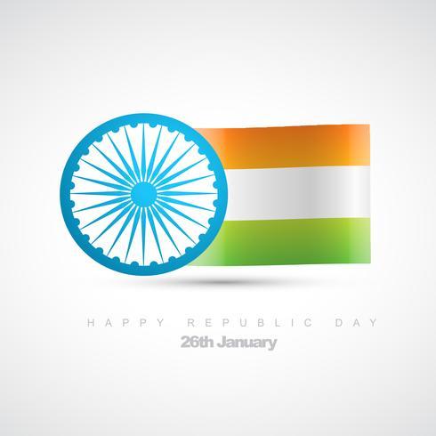 Vektor indische Flagge