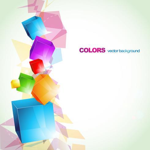 disegno astratto colorato cubo