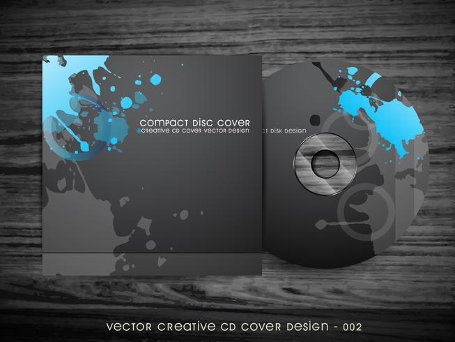 conception de la couverture de cd abstraite